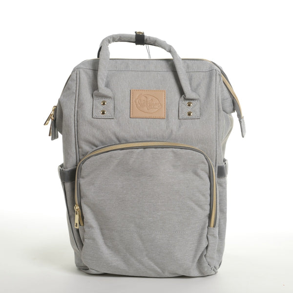 gray mom carryall or dad backpack or student backpack