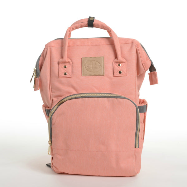 peach mom carryall diaper backpack