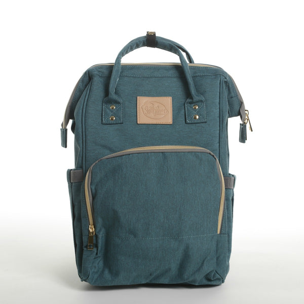jade green mom backpack dad diaper bag student backpack