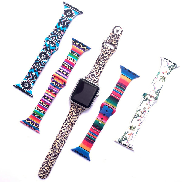 Tie Dye and Printed Slim Apple Watch Bands