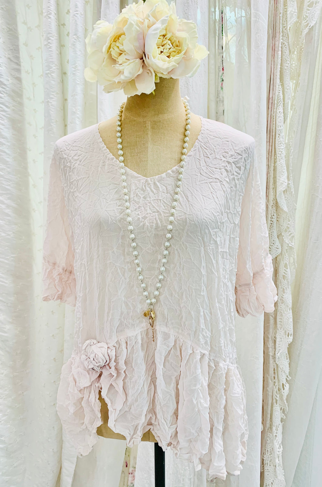Blush rose top