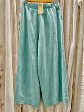 Load image into Gallery viewer, Turquoise linen pants