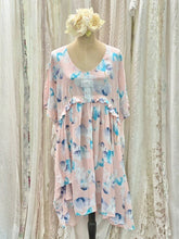 Load image into Gallery viewer, Rayon peach floral dress