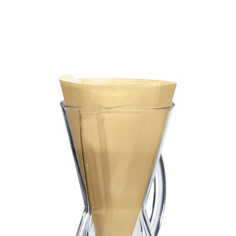 Chemex Unbleached Half Moon 3 Cup Filters