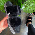 District29 Women's Plush fur Slippers