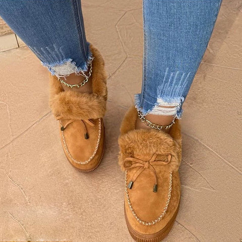 Winter Fur Ankle Boots Moccasins