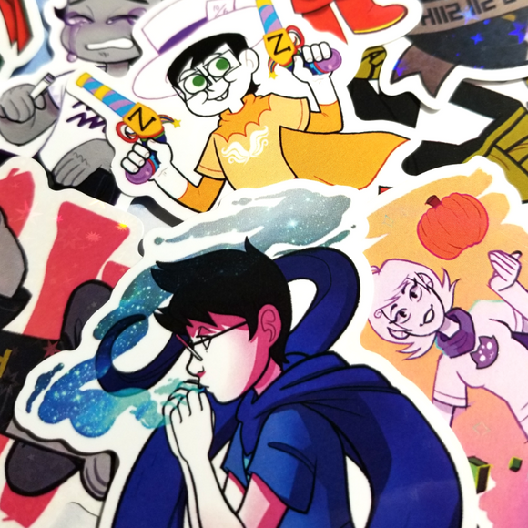 Homestuck - Misc big gloss and holographic vinyl stickers