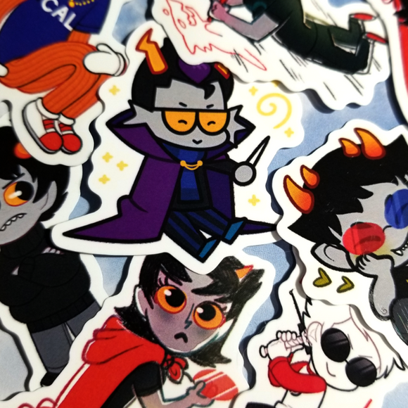 Homestuck - Misc tiny gloss vinyl stickers