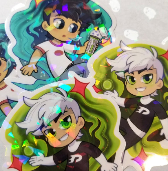 Holographic Danny Phantom stickers