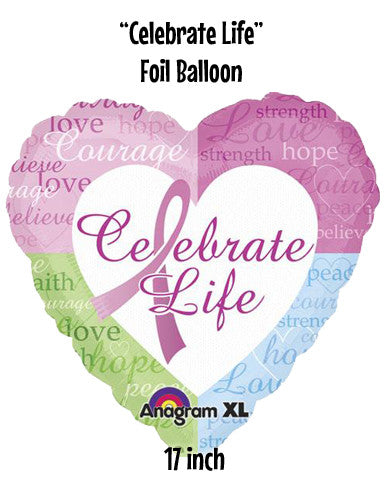 """Celebrate Life"" 18-inch Foil Balloon"
