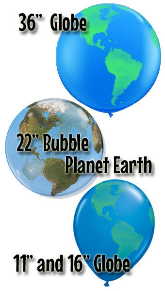 Globe Latex & Bubble Balloons