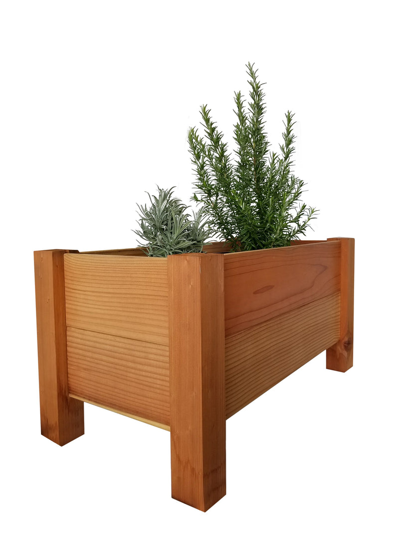 "GroGardens 1' x 2' x 16""  Redwood Elevated Garden Bed"