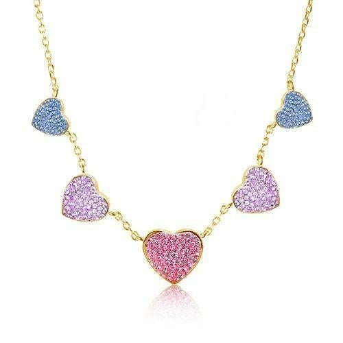 Clay Heart Crystal Necklace
