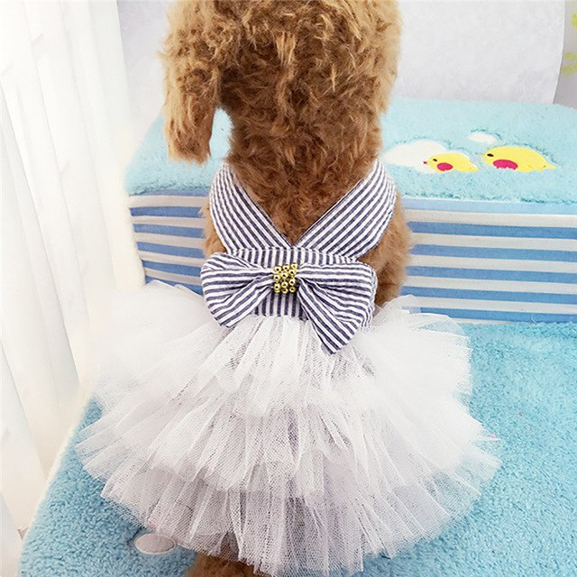 Bubble Braces Skirt Pet Dog Dress Up Wear Princess
