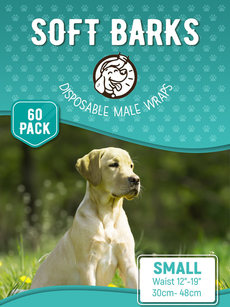 Disposable Male Wrap Dog Diapers Simple and Convenient, Small 60 Count