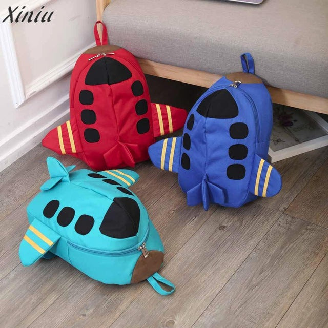 Fashion Backpack Baby kids Boys Girls unique Plane