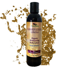 Glimmer Goddess Organic Gold Shimmer Body Lotion -Sparkle For All Skin