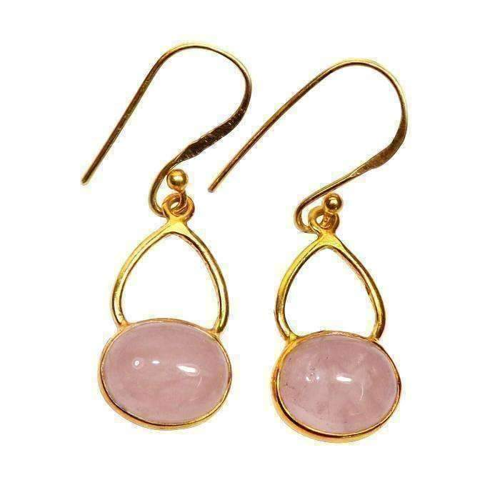 Palak Rose Quartz Earrings