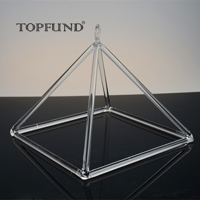 TOPFUND Clear Quartz Crystal Singing Pyramid for sound healing 10''