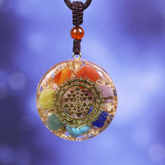 Orgonite Pendant Chakra Reiki Healing Necklace Yoga Energy Sweater