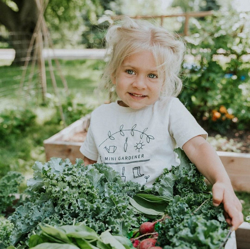 Mini Gardener Boys Girls T-Shirt Plants Vegan Gift Mini Gardener Organic Kids Clothes Toddler Kids  Shirts Graphic T-Shirt