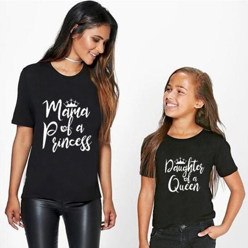Family Look Matching Clothes Mommy And Me Tshirt matching mother daughter clothes Outfits T-shirt kids Baby Girl Boys Clothes