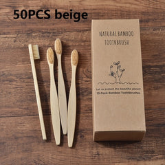 50-Pack Vegan Soft Bristle Toothbrush  Bamboo Toothbrush cepillo dientes Natural Eco Capitellum Bamboo Fibre Bamboo Toothbrush