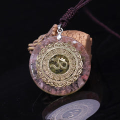 Reiki Orgonite Divination Pendant Necklace Natural Energy Crystal
