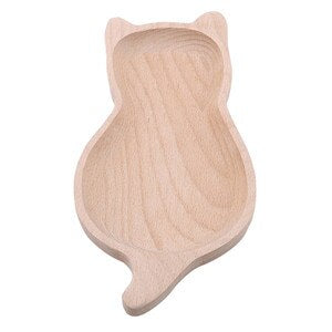 Cartoon Wooden Storage Trays Dishes Plates Kids Candy Snacks Fruit Dessert Cat Pear Apple Kitchen Organizer Dinnerware Tableware