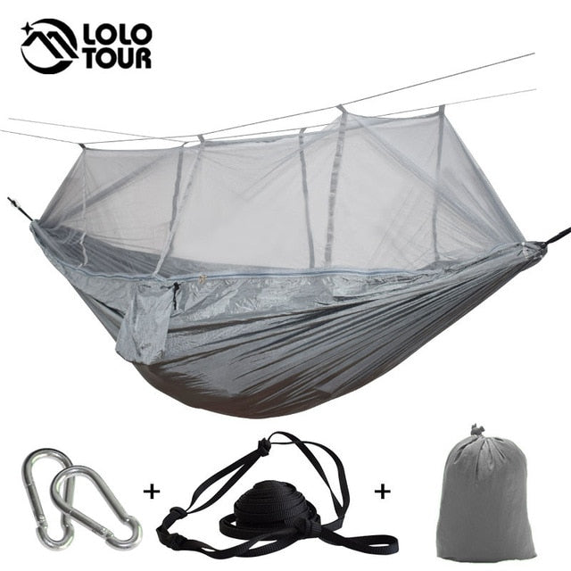 Ultralight Outdoor Camping Hunting Mosquito Net Parachute Hammock 2 Person Flyknit Hamaca Garden Hamak Hanging Bed Leisure Hamac