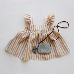 Baby Clothes Girl Dress For 0-24M Baby Summer & Spring Organic Cotton Newborn Gir Clothes New Born Sleeveless Kids Girl Clothing