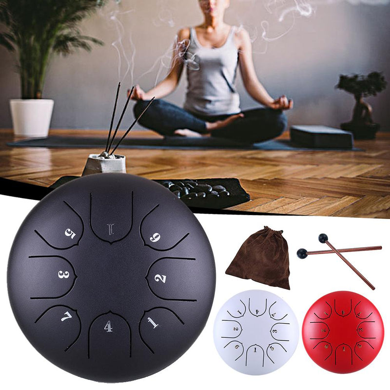 6 Inches 8 Inches Steel Tongue Drum Set 8 Tune Tongue Drum Hang Drum With Padded Drum Bag Mallets Stickers Support Dropshipping