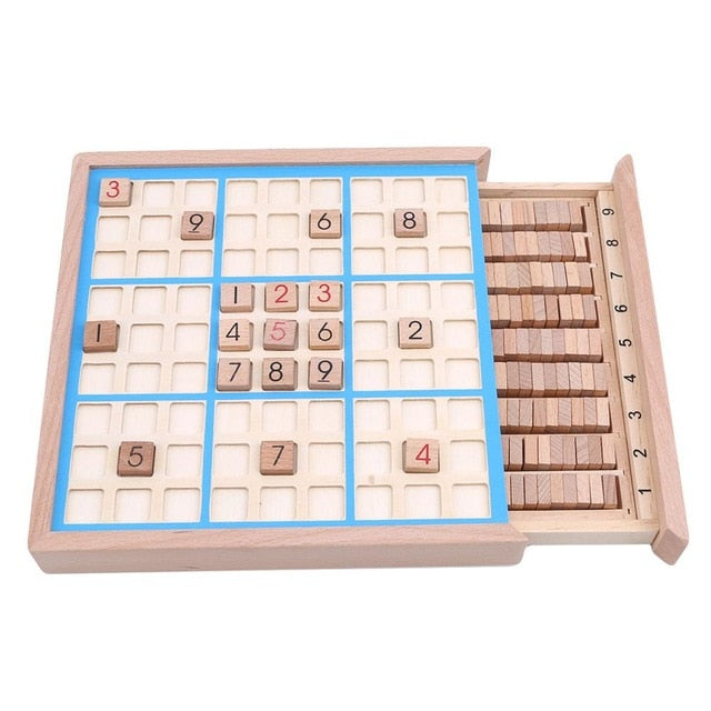 Children Sudoku Chess Beech International Checkers Folding Game Table Toy Gift Learning & Education Puzzle Toy