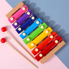 2020 New Toy Xylophone Montessori Educational Toy Wooden Eight-Notes Frame Style Xylophone Children Kids Baby Musical Funny Toys