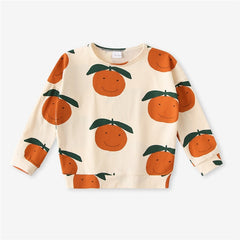 Fashion Kids Sweaters One Piece Organic Cotton Autumn Boys Girls Animal Print Sweatshirts Winter Baby Child Outwear Clothes Tops