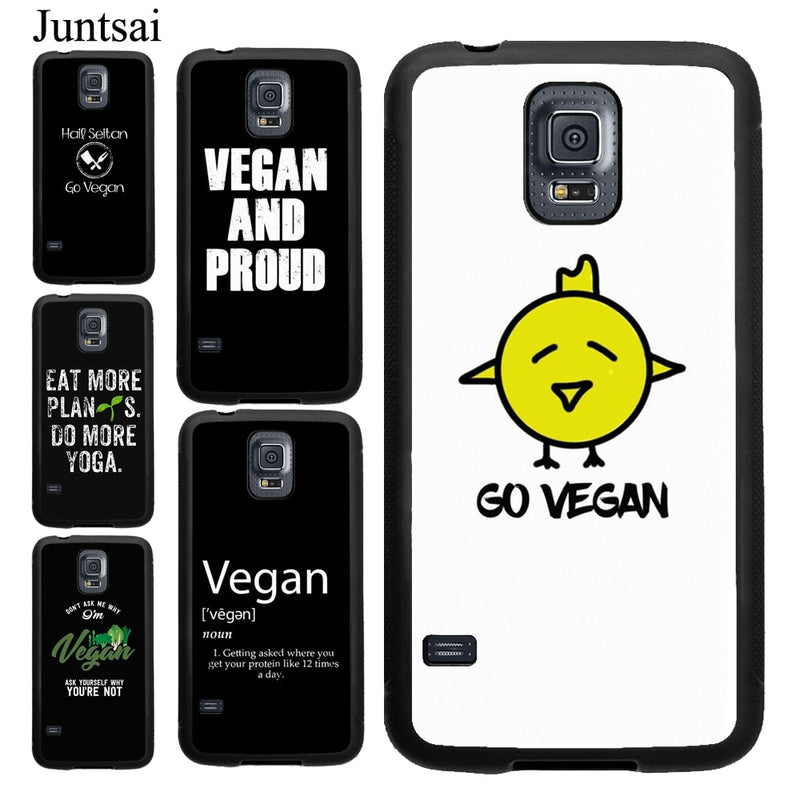Go Vegan Food Vegetarians VEGGIE Quotes Case For Samsung A21S A20e A51 A71 A50 A70 A40 For Galaxy S20 Plus S9 S10 Note 20 Ultra