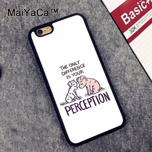 Love Animal Vegan Quotes Case For iPhone 11 Pro Max X XR XS Max 6S 7 8 Plus SE 2020 12 mini 12 Pro Max Cover