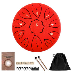 Healing Drum 11 Notes 6 Inches For Hang Drum Instrument Mini Percussion Lotus Drum Worry Free
