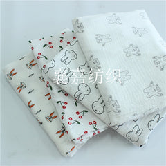 Cotton Crepe Double Gauze Printing Kids Clothes Fabric Seersucker Anti-Mosquito Pants Pajama Fabrics