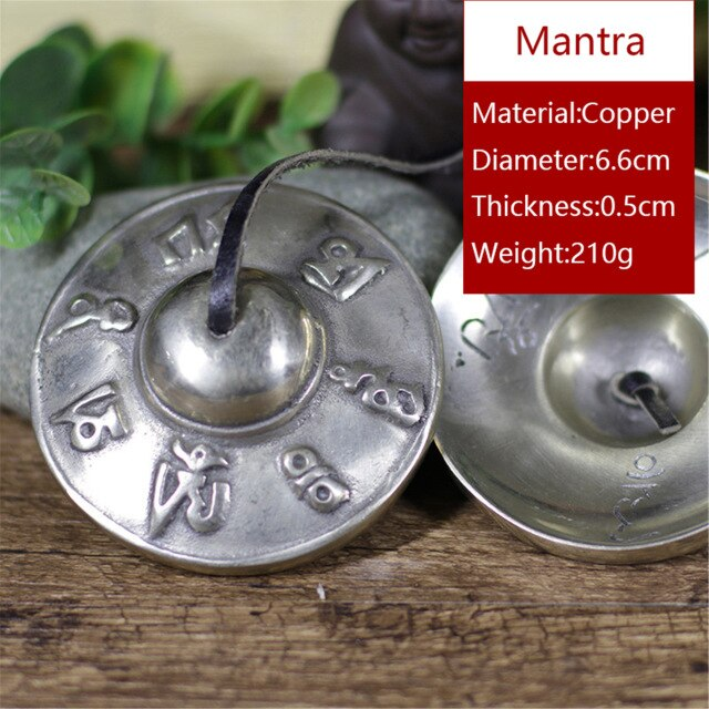 Gandhanra Handmade Tibetan Tingsha Bells with Om/Lucky Cloud/Mantra,Cymbals From Nepal,Best Gift for Meditation Sound Healing