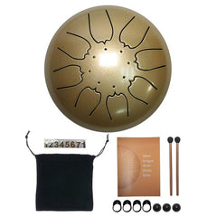 Fast Shipping 6 Inch Steel Tongue Drum 8 Tune Hand Pan Drum Tank Hang Drum With Drumsticks Carrying Bag Percussion Instruments