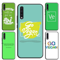 Vegetarian VEGAN FOOD ANIMAL LOVE VEGGIE Case For Samsung A71 A51 A70 A50 A40 A10 A20e A21S Galaxy S20 Plus S10 S9 Note 20 Ultra