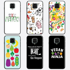 Vegan Pattern Funda For Xiaomi Redmi Note 8 Pro 7 8T 9S Note 9 Pro Case For Redmi 9C 9 9A 8A Cover