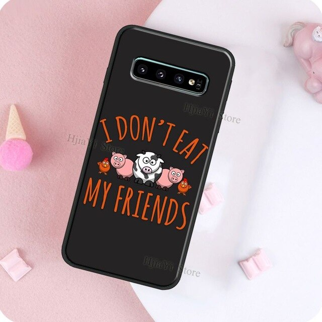Vegan Vegetarians Animal Love Quotes Case For Samsung Galaxy S20 Plus S7 S8 S9 S10 Plus S10e Note 20 Ultra 9 8 Note 10 Lite