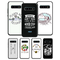 Go Vegan Vegetarians Case For Samsung Galaxy S20 Plus S7 S8 S9 S10 Plus S10e Note 20 Ultra 9 8 Note 10 Lite
