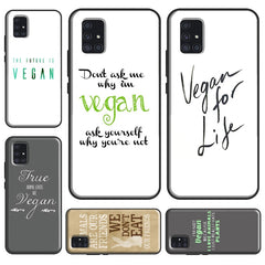 Vegetarian Quotes VEGAN LOVE VEGGIE Case For Samsung Galaxy A51 A71 A10 A20 e A40 A50 A70 A30S M11 M21 M31 A31 A21S Funda
