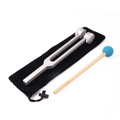 New 128Hz Medical Neurological Tuning Fork Sets with hammer for Sound Healing Therapy Aluminum Alloy Massage Relaxation