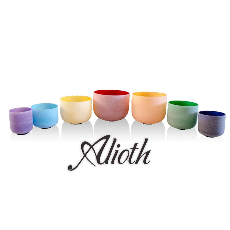 "All 8"" 7pcs Colored Crystal Singing Bowls Set for Chakra Balancing/Yoga/Sound Healing/Meditation(432Hz/Perfect Pitch avilable)"
