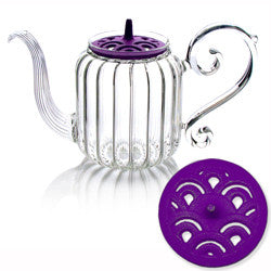 Mariage Frères - Wave « Baroque » Teapot - hand blown glass - 0,7 l - Champagne Beverly Hills