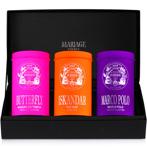 Mariage Frères - CHARISMATIC TEAS® 3 teas gift set Green tea, white tea & black tea